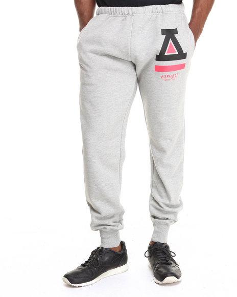 Asphalt Yacht Club Grey Basic Fleece Pants