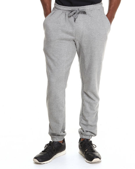 Buyers Picks - Men Grey Terry Cloth Classic Sweatpants - $21.99