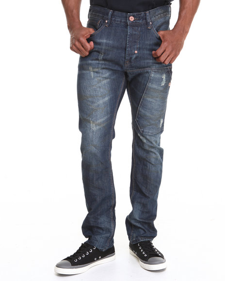 Syn Jeans - Men Medium Wash Denton Denim Jeans