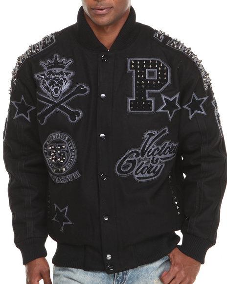 Pelle Pelle Black Anniversary Edition Varsity Jacket