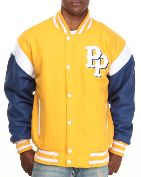 Pelle Pelle - Men Yellow Heritage Wool Jacket - $121.99