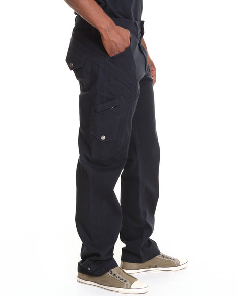 Pelle Pelle - Men Navy Fashion Cargo Pant - $44.99