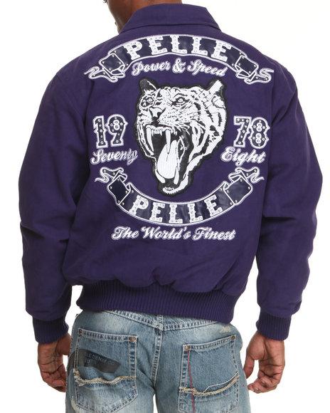 Pelle Pelle Purple Tiger Twill Jacket