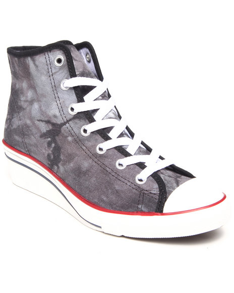 Converse - Women Black Tie Dye Chuck Taylor All Star Hi Ness Sneakers