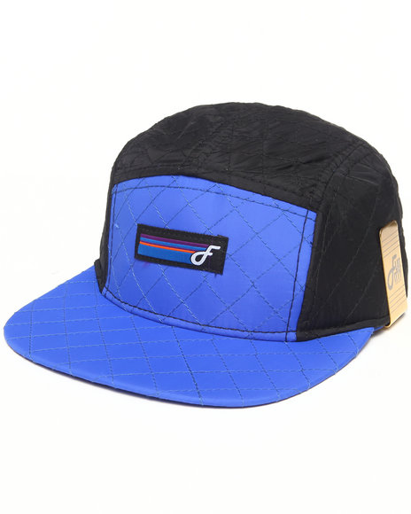Buyers Picks Men Polar 5 Panel Strapback Hat Blue