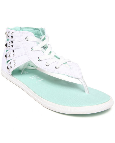 Converse - Women White Chuck Taylor All Star Gladiator Thong Studded Sandals