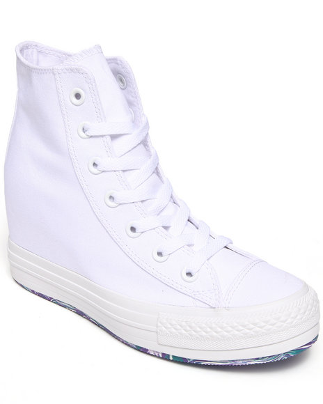 Converse White Tie Dye Chuck Taylor All Star Platform Plus Sneakers