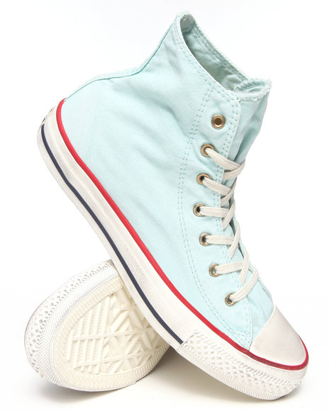Converse - Women Light Blue Washed Canvas Chuck Taylor All Star Sneakers