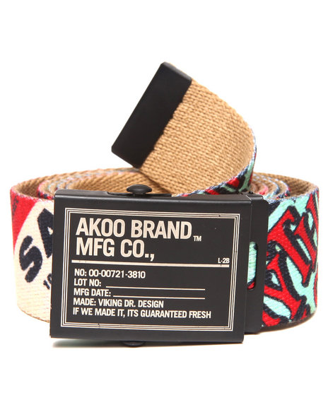 Akoo Long Run Belt Khaki