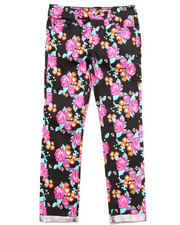 Bottoms - Floral Print Twill Jeans (7-16)