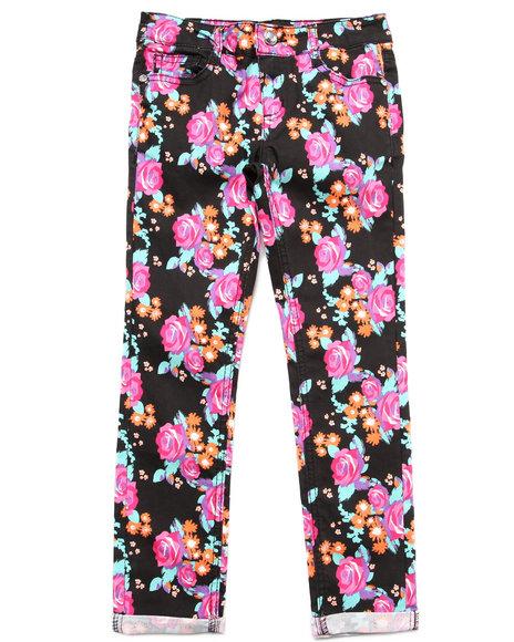 Blac Label Girls Multi Floral Print Twill Jeans (7-16)