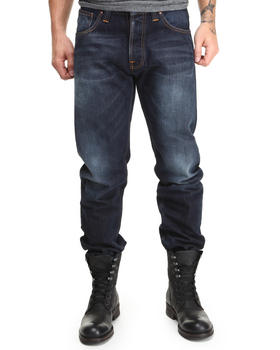 Nudie Jeans - Straight Alf Organic Contrast Indigo Jeans