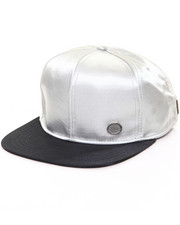Accessories - Silver Liquid Sateen Hat