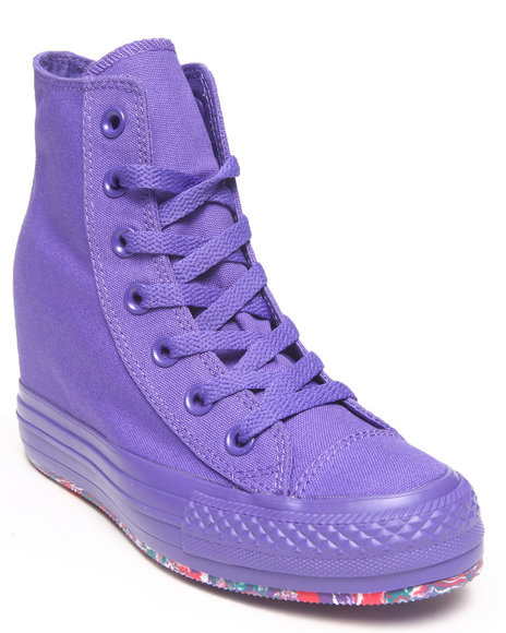 Converse - Women Purple Tie Dye Chuck Taylor All Star Platform Plus Sneakers