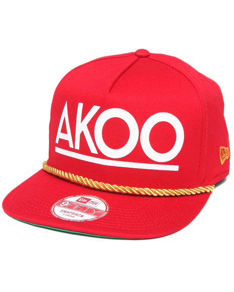 Akoo Men Deja Vu Akoo Snapback Cap Red
