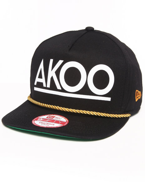 Akoo Men Deja Vu Akoo Snapback Cap Black - $29.99