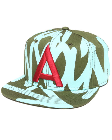 Akoo Upside Down Snapback Cap Green