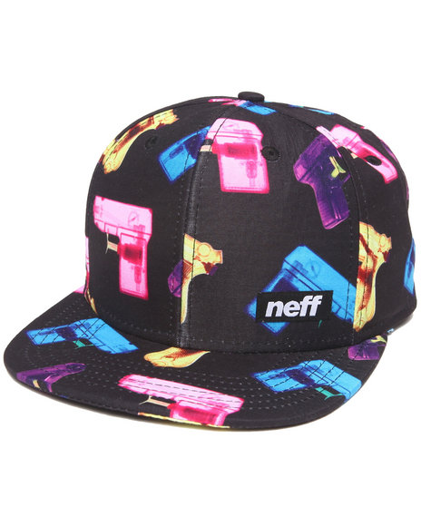 Neff P-Shooter Snapback Hat Black