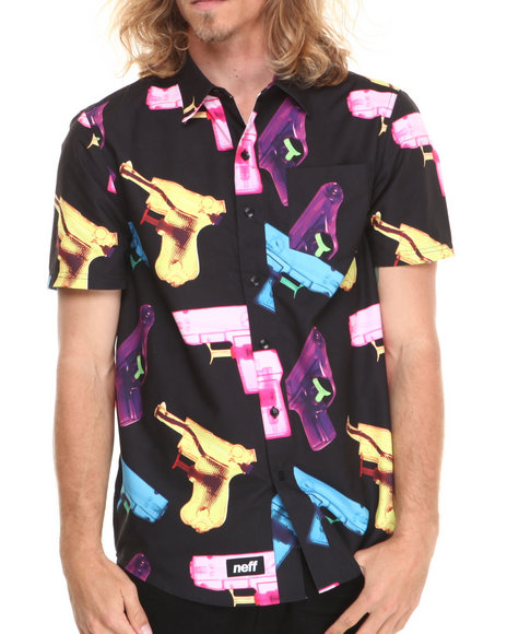Neff Black P-Shooter S/S Button Down Shirt