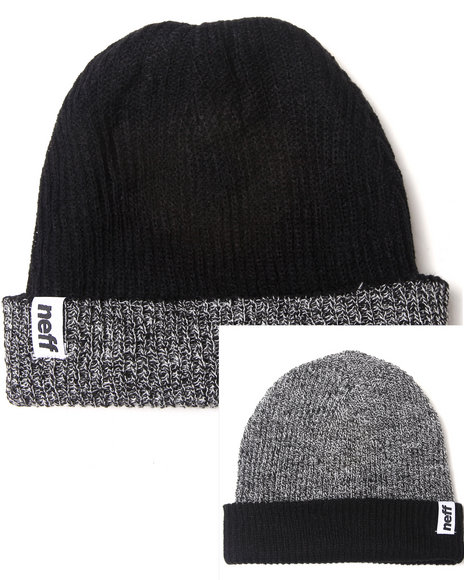 Neff Daily Fold Reversible Knit Hat Black