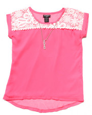 Sizes 7-16 - Big Kids - Lace & Chiffon Top (7-16)