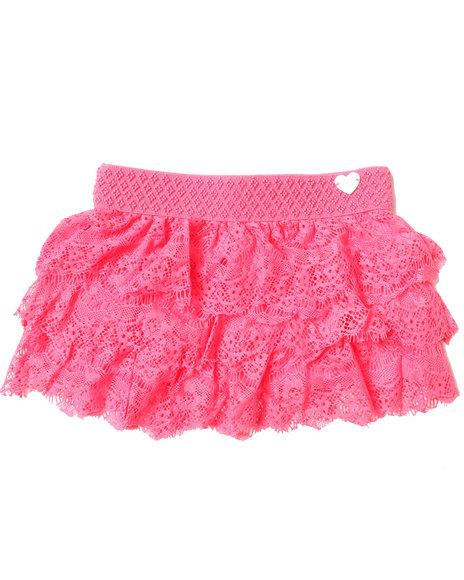 XOXO Girls Pink Lace Skirt (7-16)