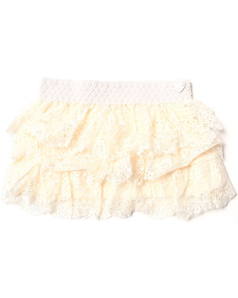Xoxo - Girls Beige Lace Skirt (7-16)
