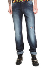 Men - Distressed Wash Regular Fit Jean