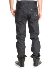 Blac Label - Faux Leather - Trimmed Denim Jeans