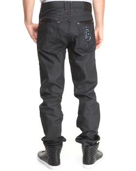 Blac Label - Faux Leather - Trimmed Denim Jeans