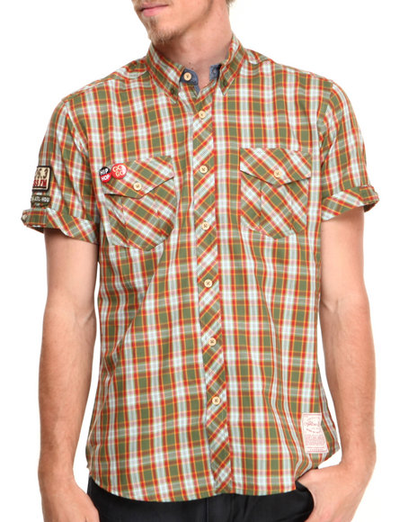 AKOO Green In The Park Plaid S/S Button-Down