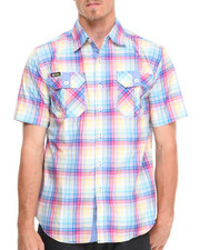 Akademiks - GTO Plaid S/S Button Down Shirt