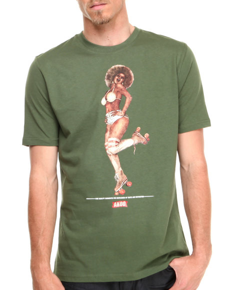 AKOO Green Pam On Wheels Tee