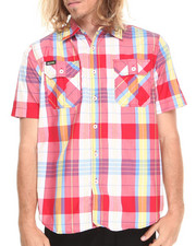 Akademiks - Randal Plaid S/S button down shirt
