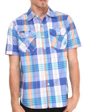 Akademiks - Randal Plaid S/S Button-Down Shirt