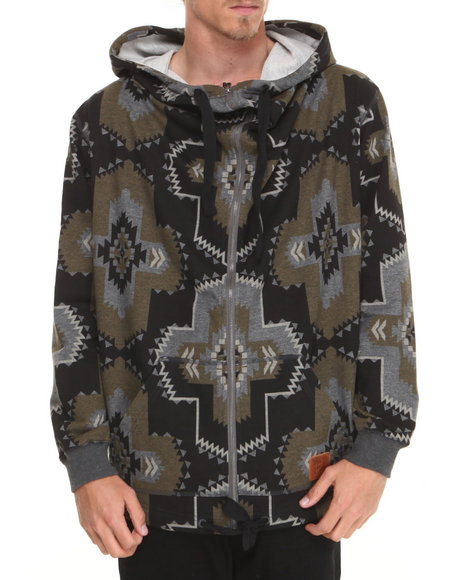 Allston Outfitter - Men Green Grand Navajo Hoodie