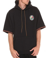Sweatshirts & Sweaters - Cross Colors Circle Logo 3/4 Sleeve Pullover Hoodie