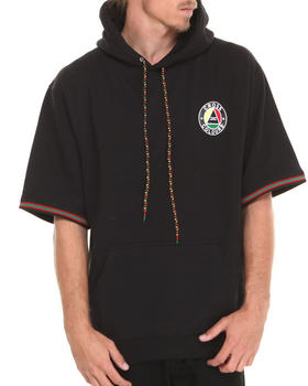 Cross Colours - Cross Colors Circle Logo 3/4 Sleeve Pullover Hoodie