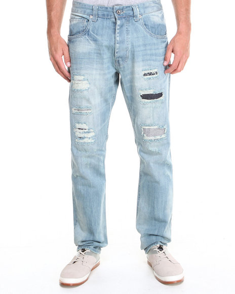 Parish - Men Light Wash Black Hills Denim Jeans