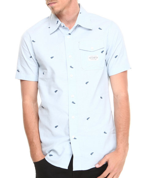 Parish Blue Rushmore S/S Button-Down