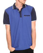 Shirts - Color Block Polo Shirt