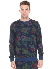 Shades of Grey by Micah Cohen - Navy Floral Sweatshirt