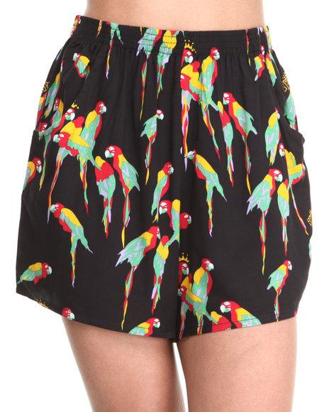 Stussy Black Macaw Shorts