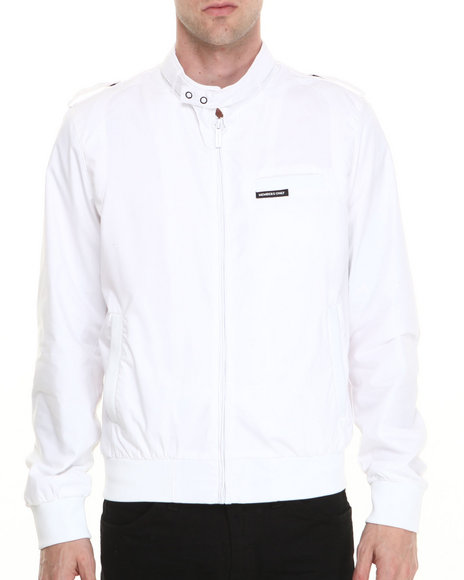 Members Only - Men White Iconic Racer Jacket