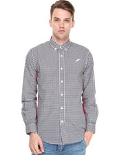 Button-downs - Gingham Panel Shirt