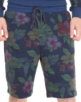 Shades of Grey by Micah Cohen - Navy Floral Sweat Short