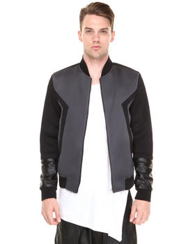 General Idea - Geometric Neoprene Motorcycle Jacket