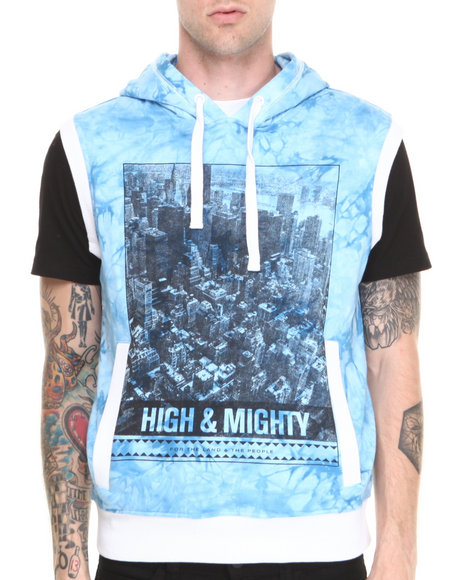 Parish - Men Blue Jimi Tie Dye Hoodie