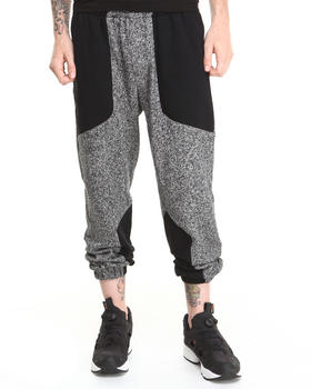 DJP OUTLET - Paneled Knit Panel Pant Blackboard
