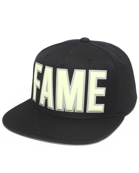 Hall Of Fame Ewing Glow In The Dark Snapback Cap Black